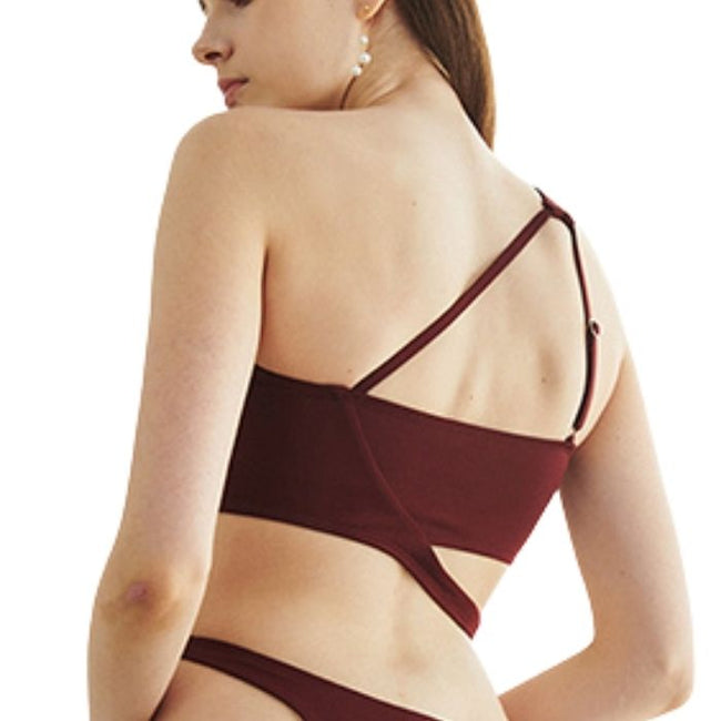 Line Shoulder Set in Wine