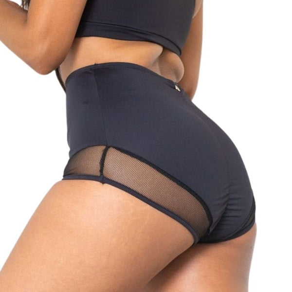 Midnight High Waist Shorts - Black