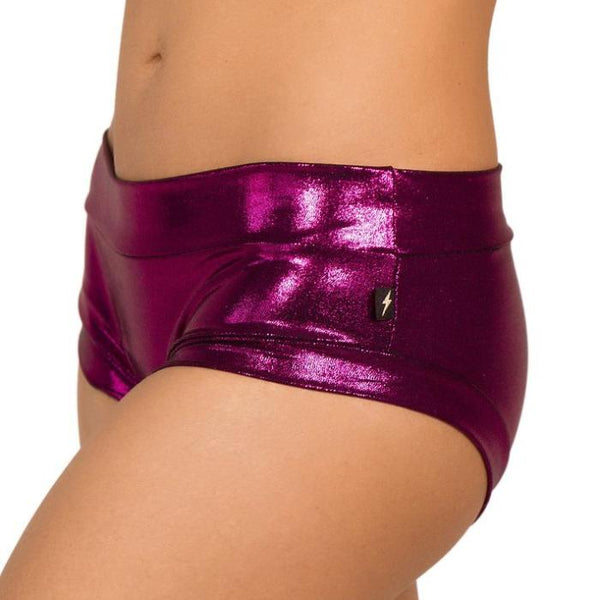 Metallic Hot Pants - Pink