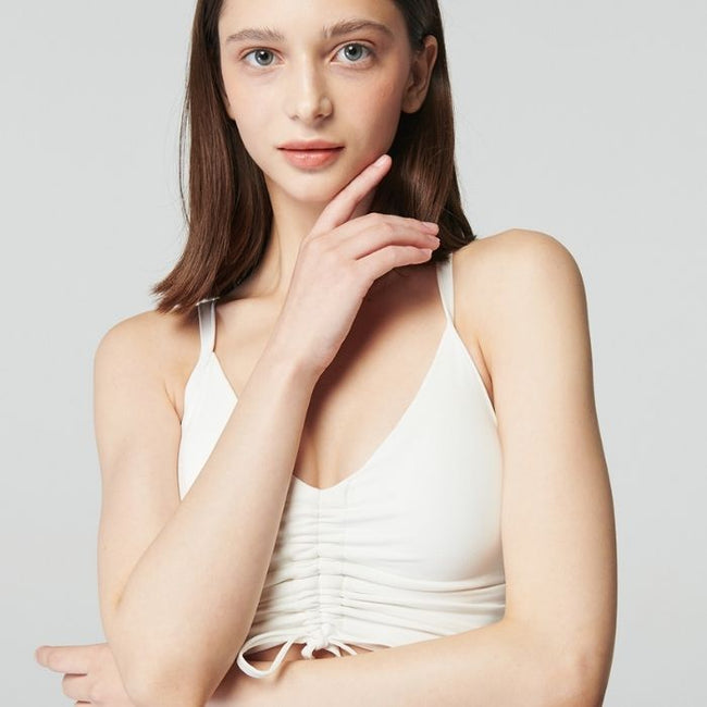 String Cami Top in Ivory