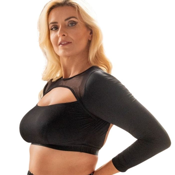 Esme Long Sleeved Crop Top - Black