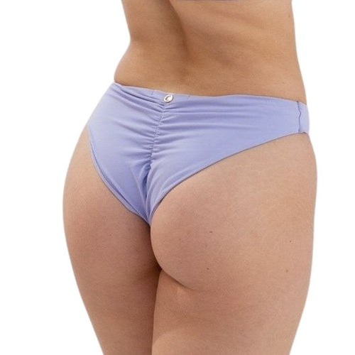 Basic Low Waist Recycled Shorts in Lilac