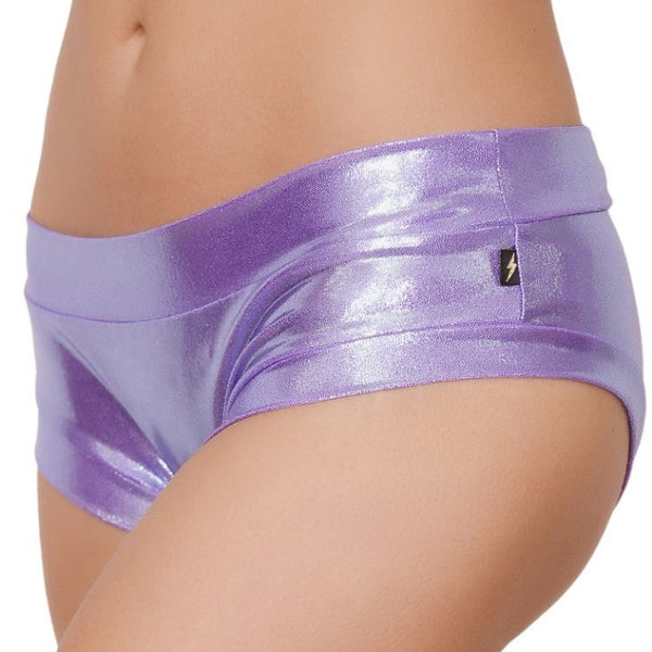 Metallic Hot Pants - Lilac