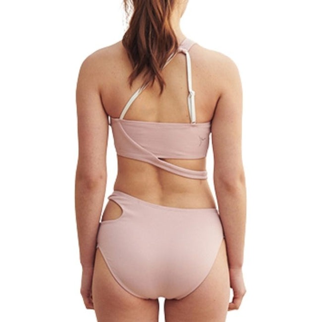 Line Shoulder Set in Powder Pink