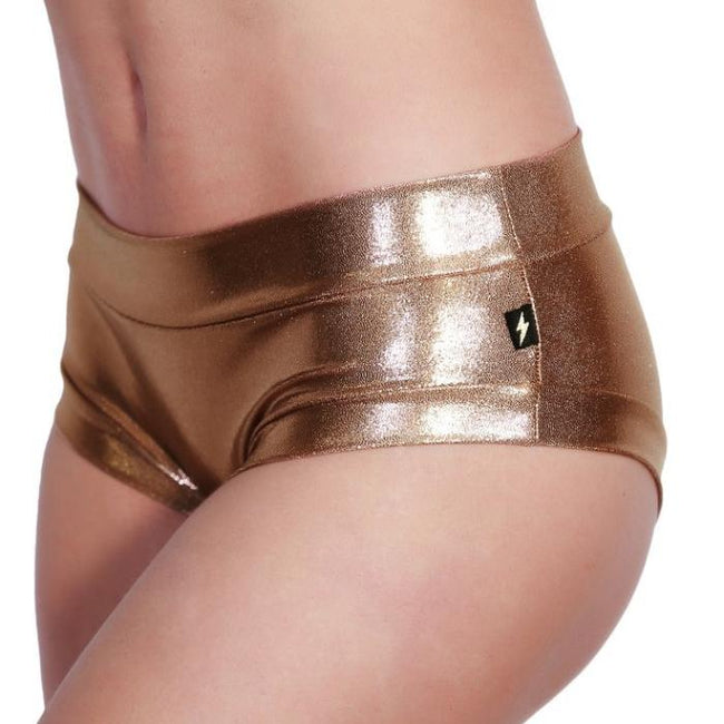Metallic Hot Pants - Rose Gold