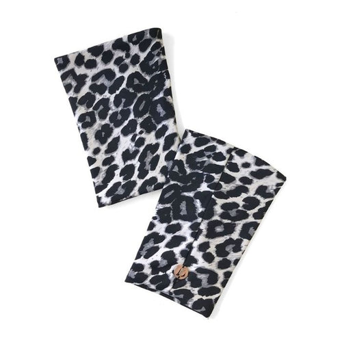 Shoe Covers in Grey Leopard