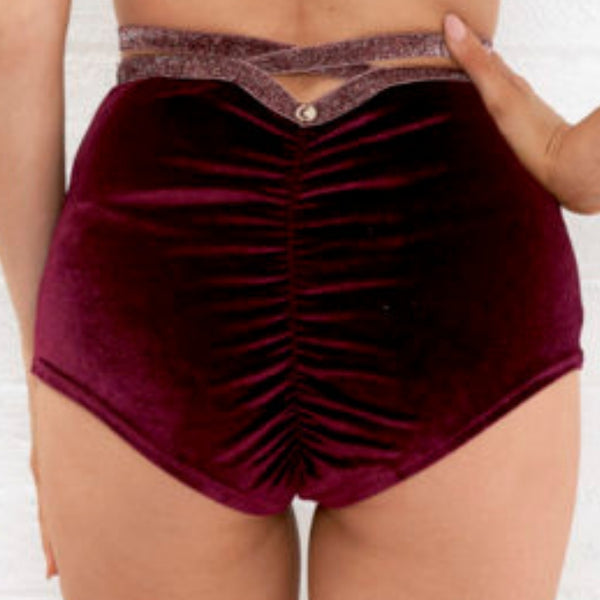 Sienna High Waist Shorts - Magenta