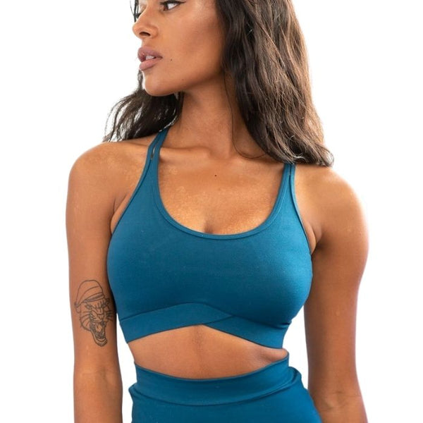 V Basic Top in Teal