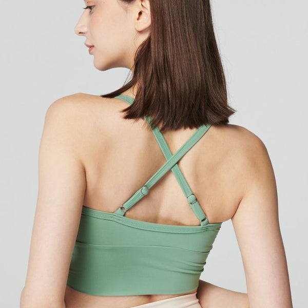 String Cami Top in Mint Green