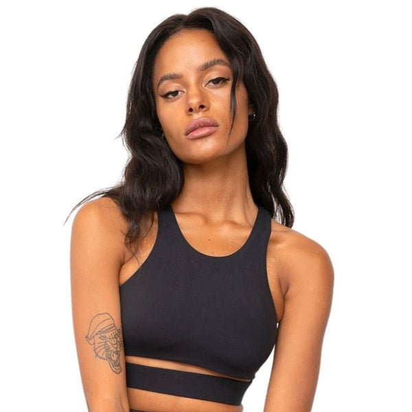 Aliza High Neck Top in Black