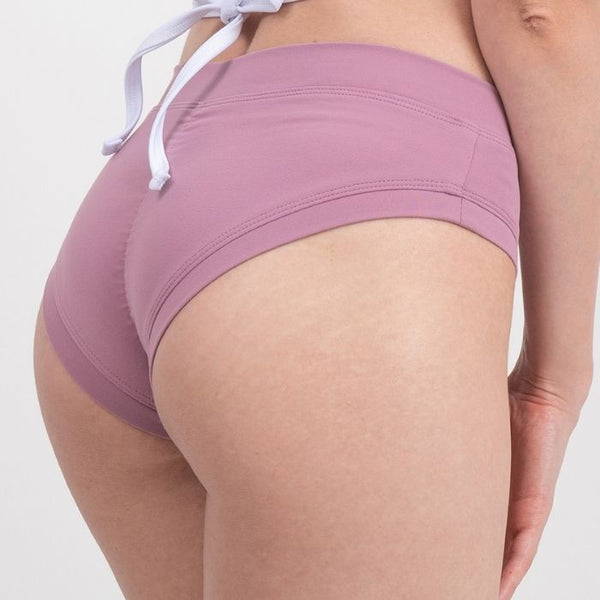 Daily Shirring Shorts in Dusty Rose