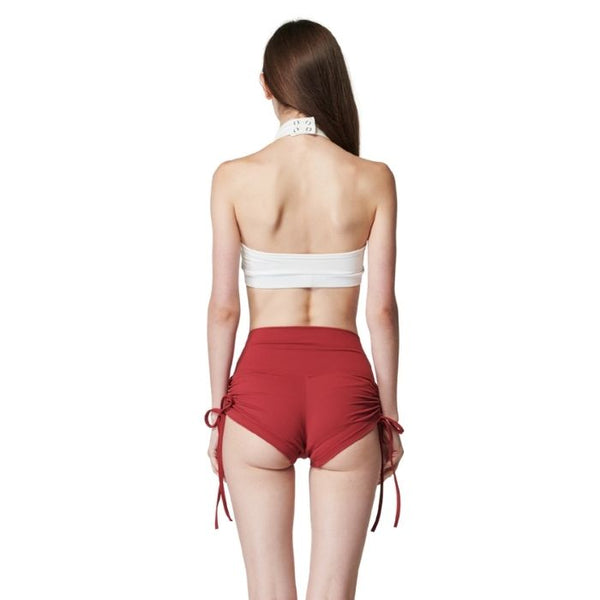 String Volume Shorts in Carmine Red