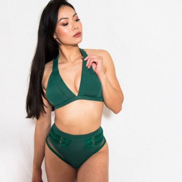 Isla Top in Forest Green