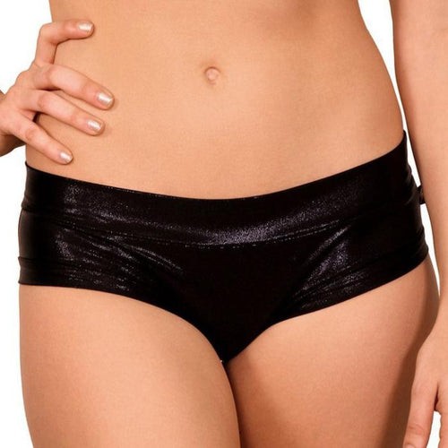 Metallic Hot Pants - Black