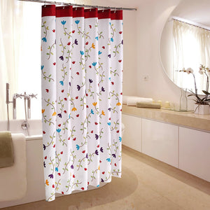 Safe Polyester Cotton Fabric Shower Curtain
