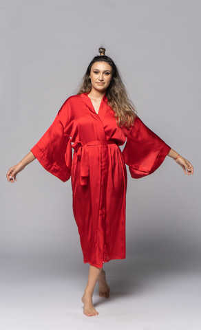 Mbeya Loungewear Intense Red - OhKimono