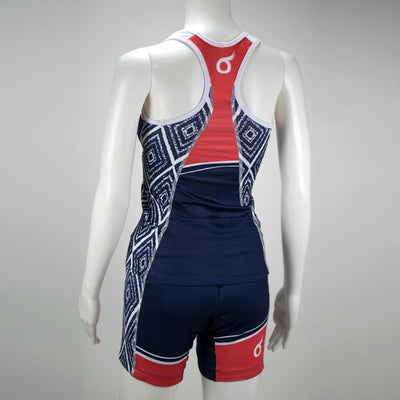 Female Triathlon Tank Support Aztec Mannequin Back