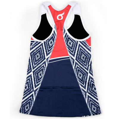 Female Triathlon Tank Support Aztec Back
