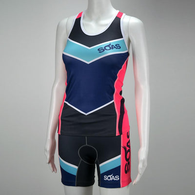 Female Triathlon Tank Bra Support Front Mannequin Boulevard