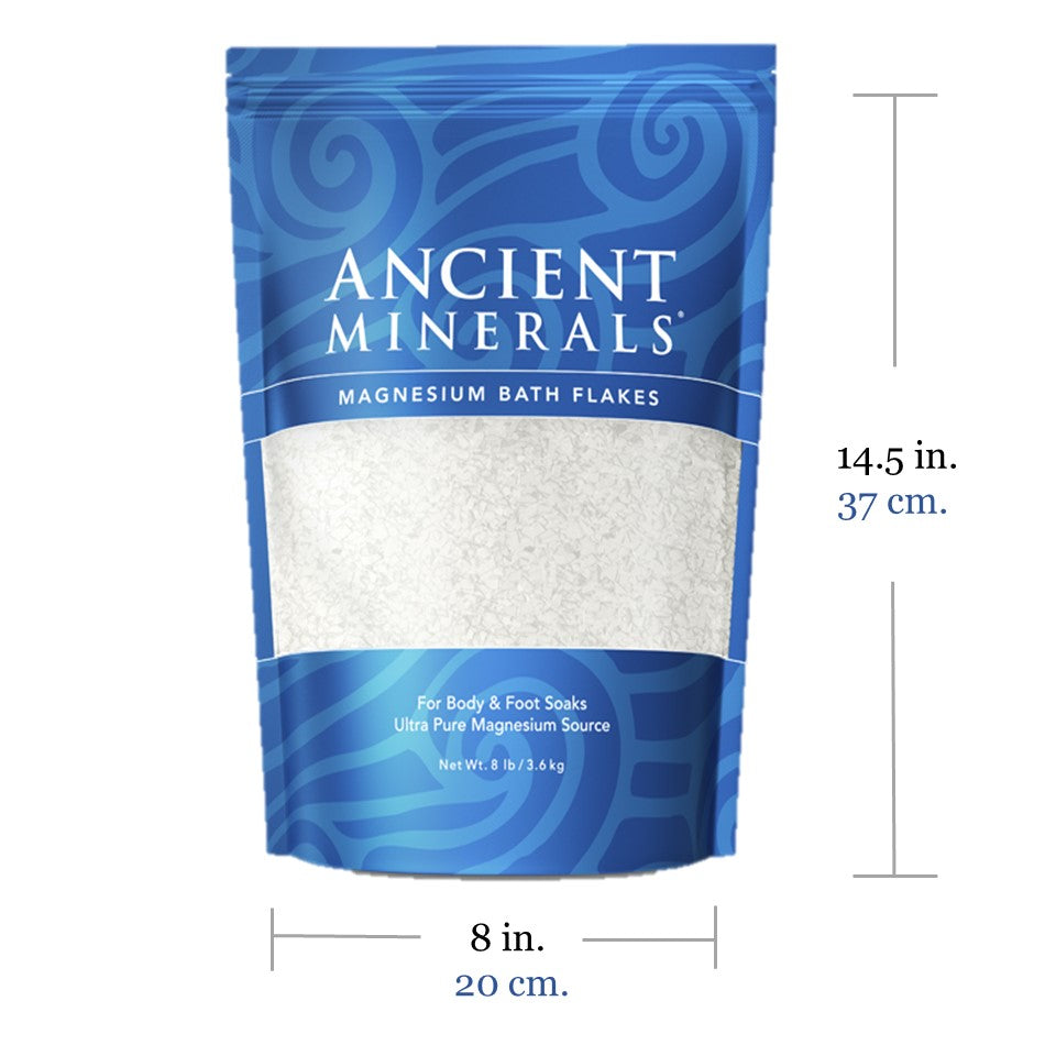 Ancient Minerals Magnesium Bath Flakes 8lb Size Specification