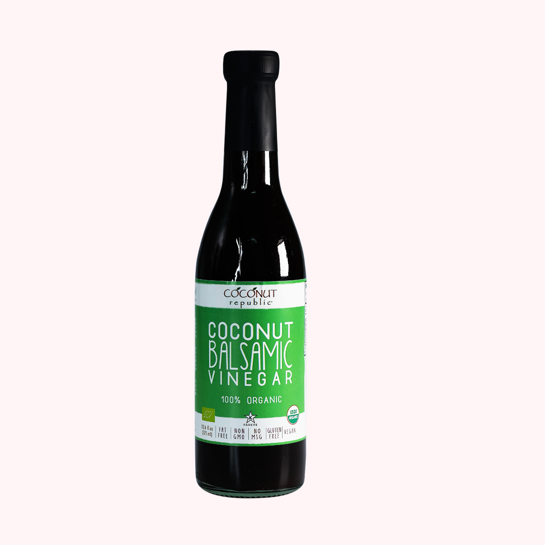 Coconut Republic®  Coconut Balsamic Vinegar 375 ml. Made in the Philippines.