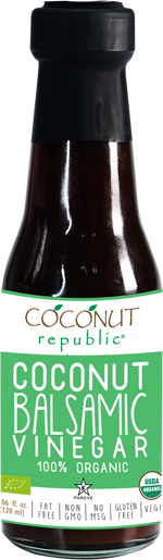 Coconut Republic®  Coconut Balsamic Vinegar 120 ml. Made in the Philippines.
