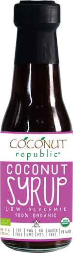 Coconut Republic® Coconut Syrup 120 ml. Made in the Philippines.