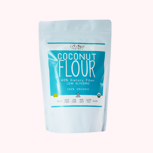 Coconut Republic® Organic Flour 250 g nutrition facts and product size. Made in the Philippines.