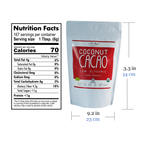 Coconut Republic® Organic Cacao 1kg nutrition facts and product size. Made in the Philippines.
