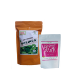 Sweet Moringa Tea  Combo4 (Set of 2) has Certified 100% Organic GreenEarth  Moringa Loose Leaf Tea 142g and Coconut Republic Coconut Sugar 250 g. Made in the Philippines.