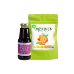 Sweet Moringa Tea  Combo2 (Set of 2) has Certified 100% Organic GreenEarth  Moringa Loose Leaf Tea 60g and Coconut Republic Coconut Syrup 350ml. Made in the Philippines.