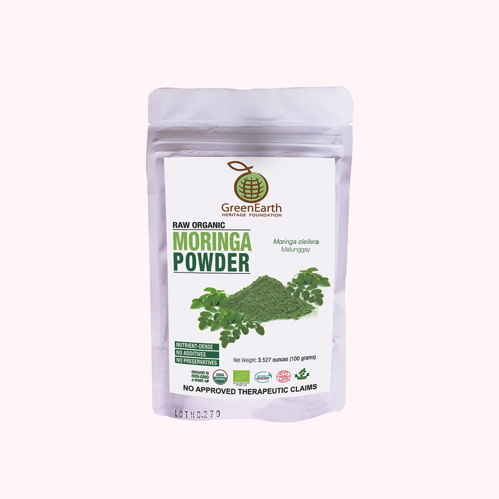 GreenEarth Moringa Powder 100 g. Made in the Philippines