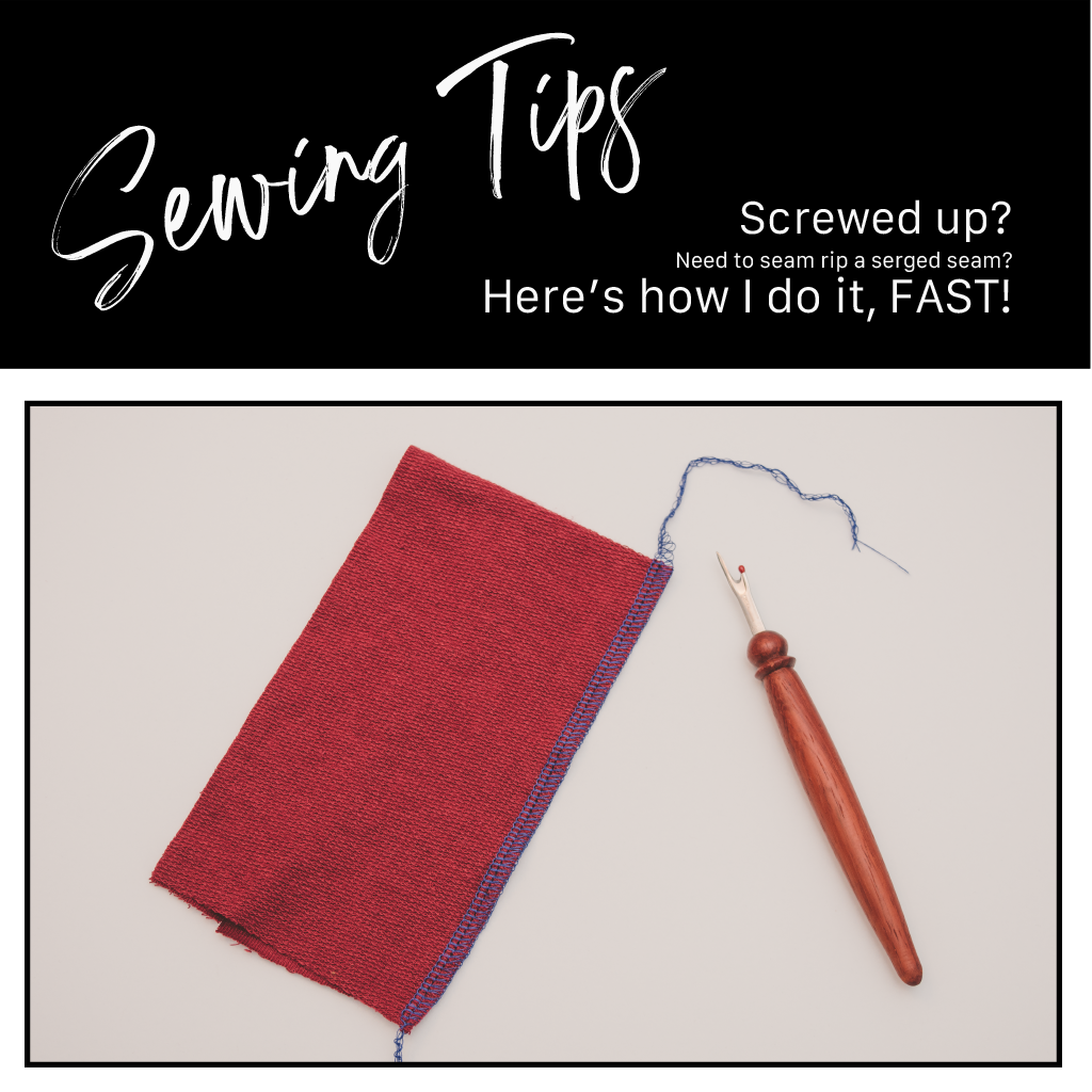 Sewing Tips | Ripping a Serged Seam