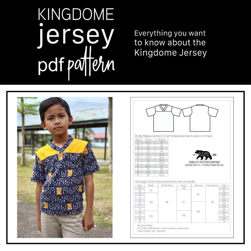 Kingdome Jersey | Learn About the Pattern with the Football Vibe