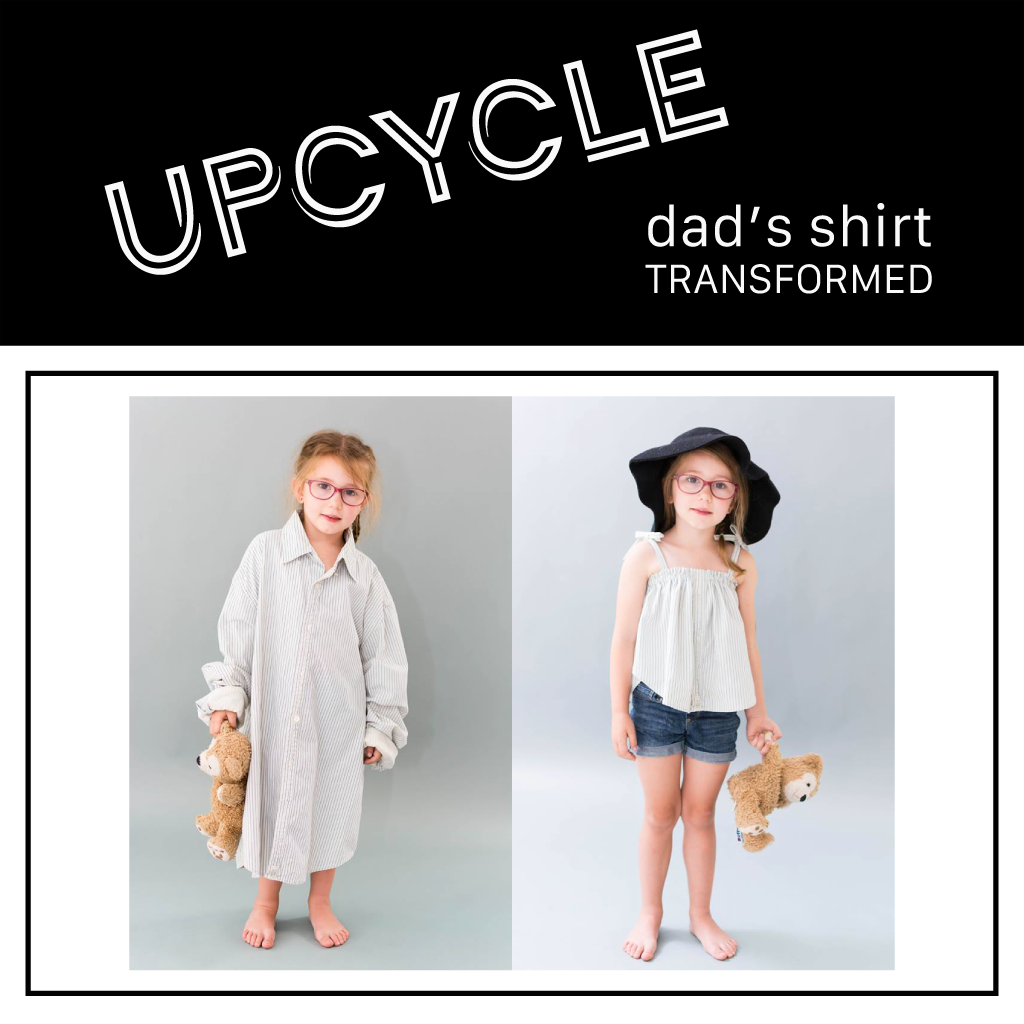 Upcycle | Adult Shirt To Kid's Summer Top