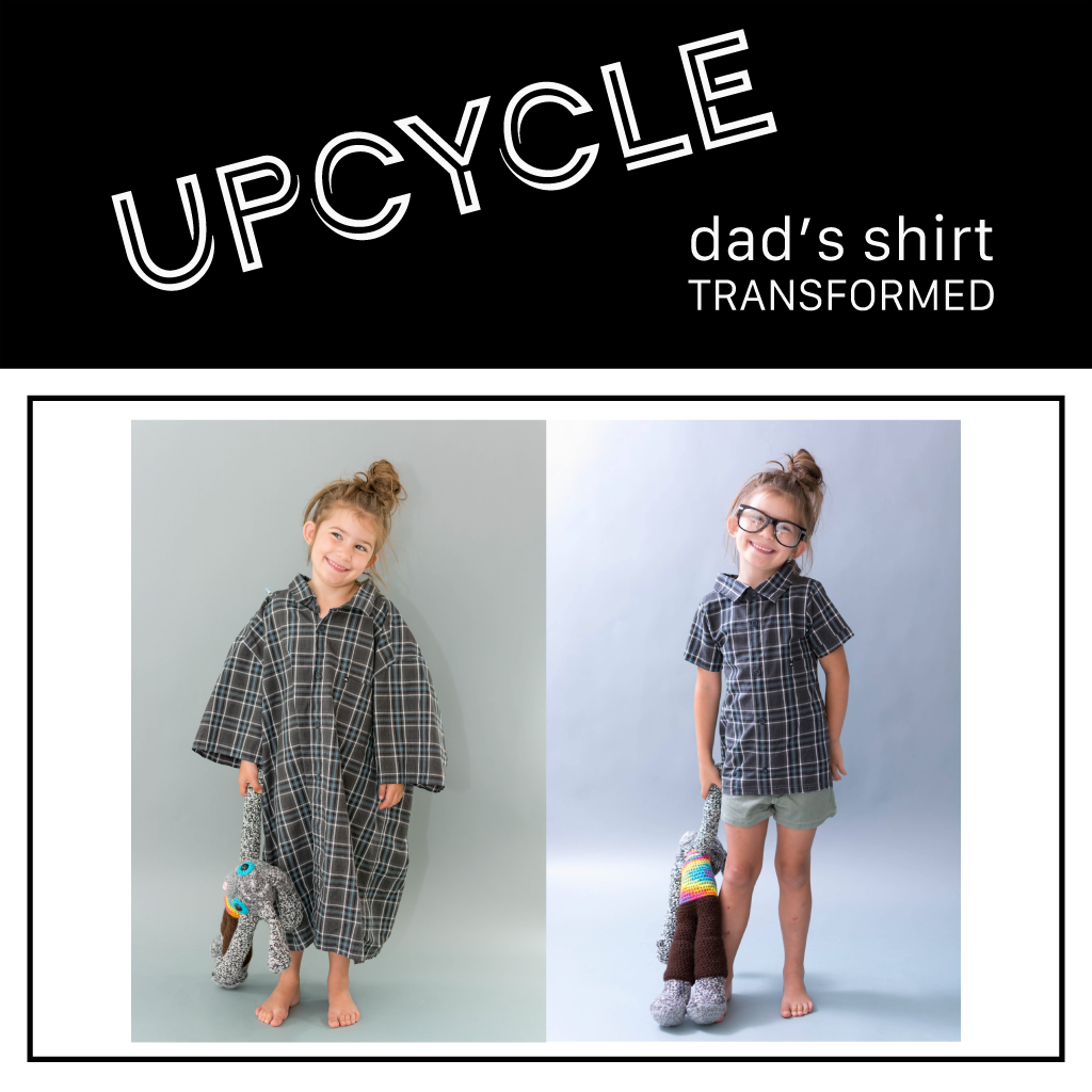 Upcycle | Adult Collar Shirt to Kid Collar Shirt