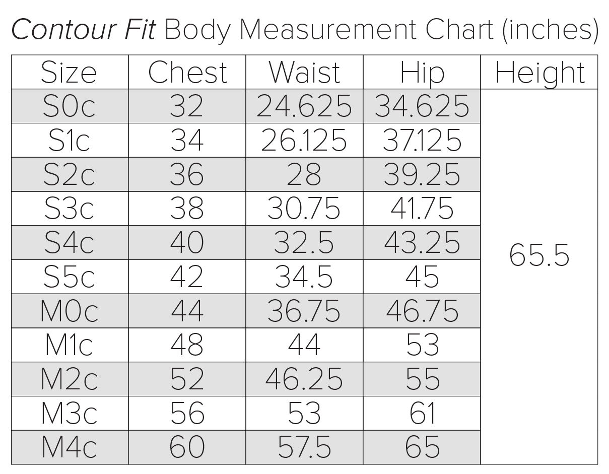 body measurement chart