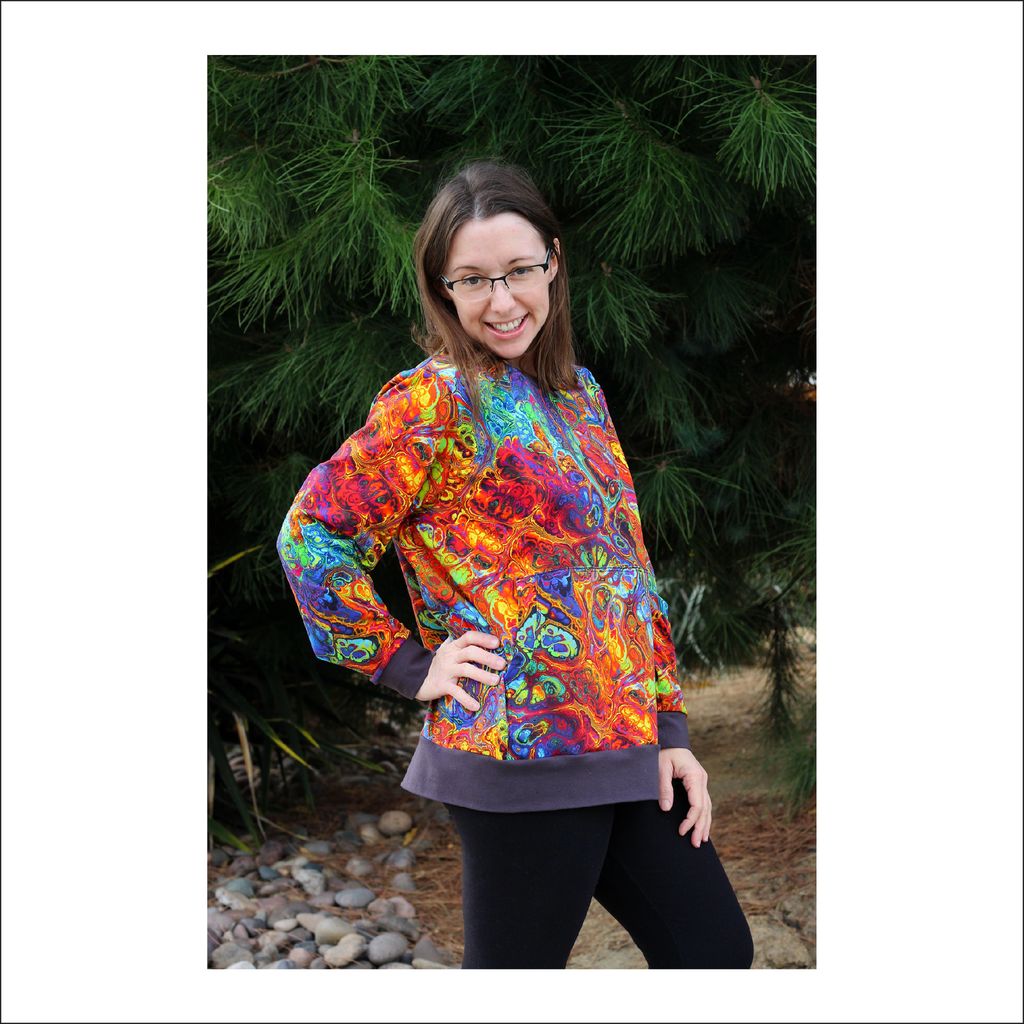 Hansville Sweatshirt + Hoodie | Adult Sizes S1 - L3 | Beginner Level Sewing Pattern