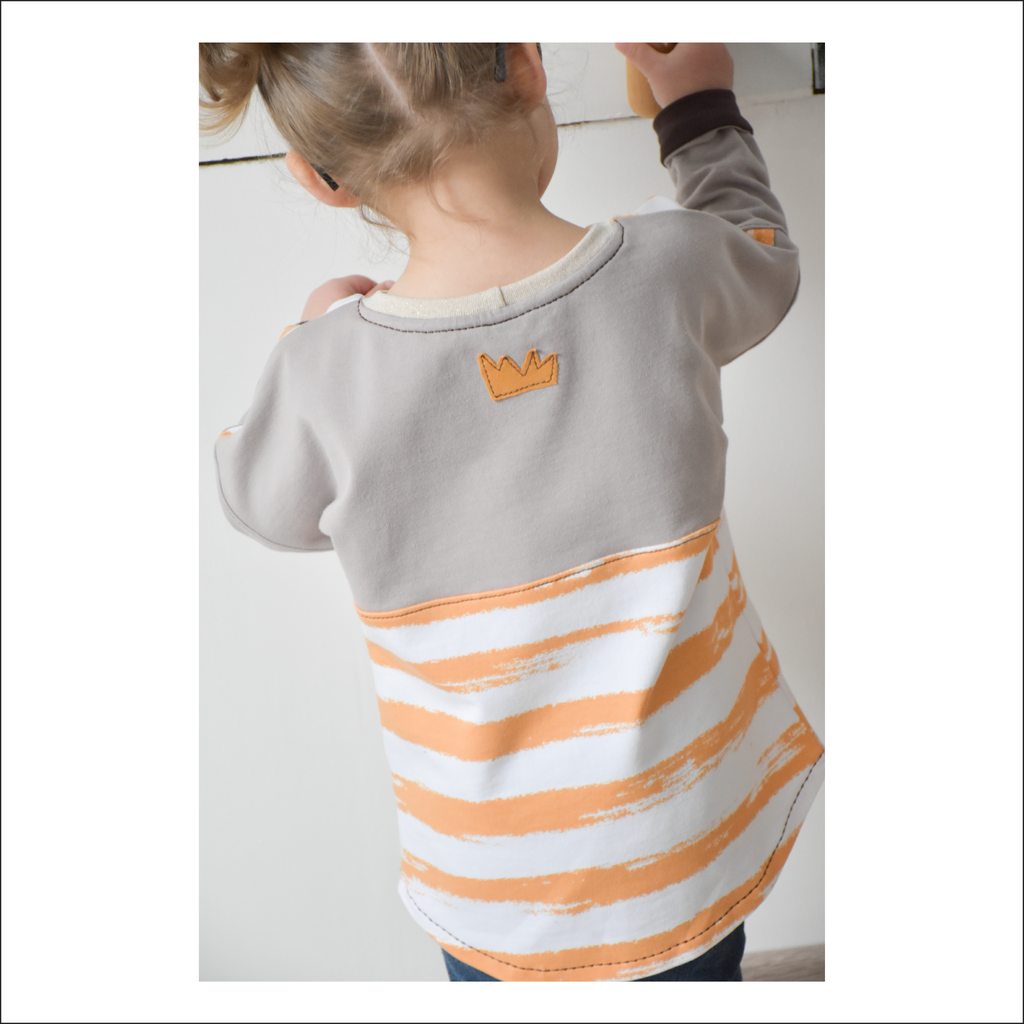 Bulldog Color-block Dolman | Child Size 2T-14 | Beginner Level Sewing Pattern