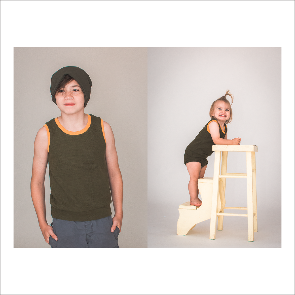 BUNDLE Northlake Tank and Muscle Tank | Newborn to Big Kid Sizes NB-18 | Adult S1-L3 | Beginner Level Sewing Pattern