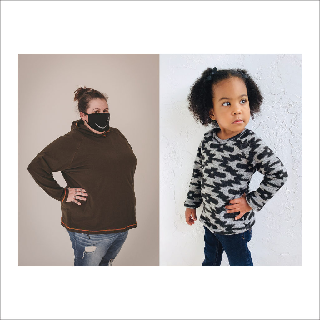 BUNDLE Roxy Raglan | Adult Sizes S1 - L3 | Baby to Big Kid Sizes NB - 16 | Beginner Level Sewing Pattern