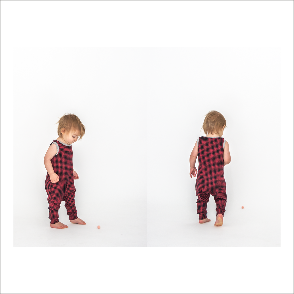 Cottage Romper | Sleeveless, Sleeves, Shorts, & Pant Length Romper, Baby to Child Sizes 3M - 8 | Beginner Level Sewing Pattern