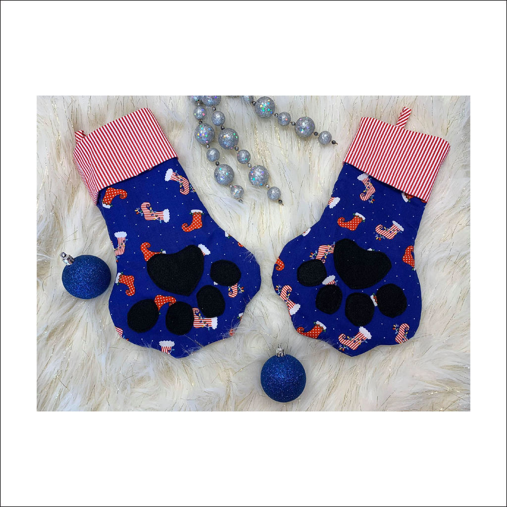 Paw-rific Stocking | One Size (pattern pieces only)