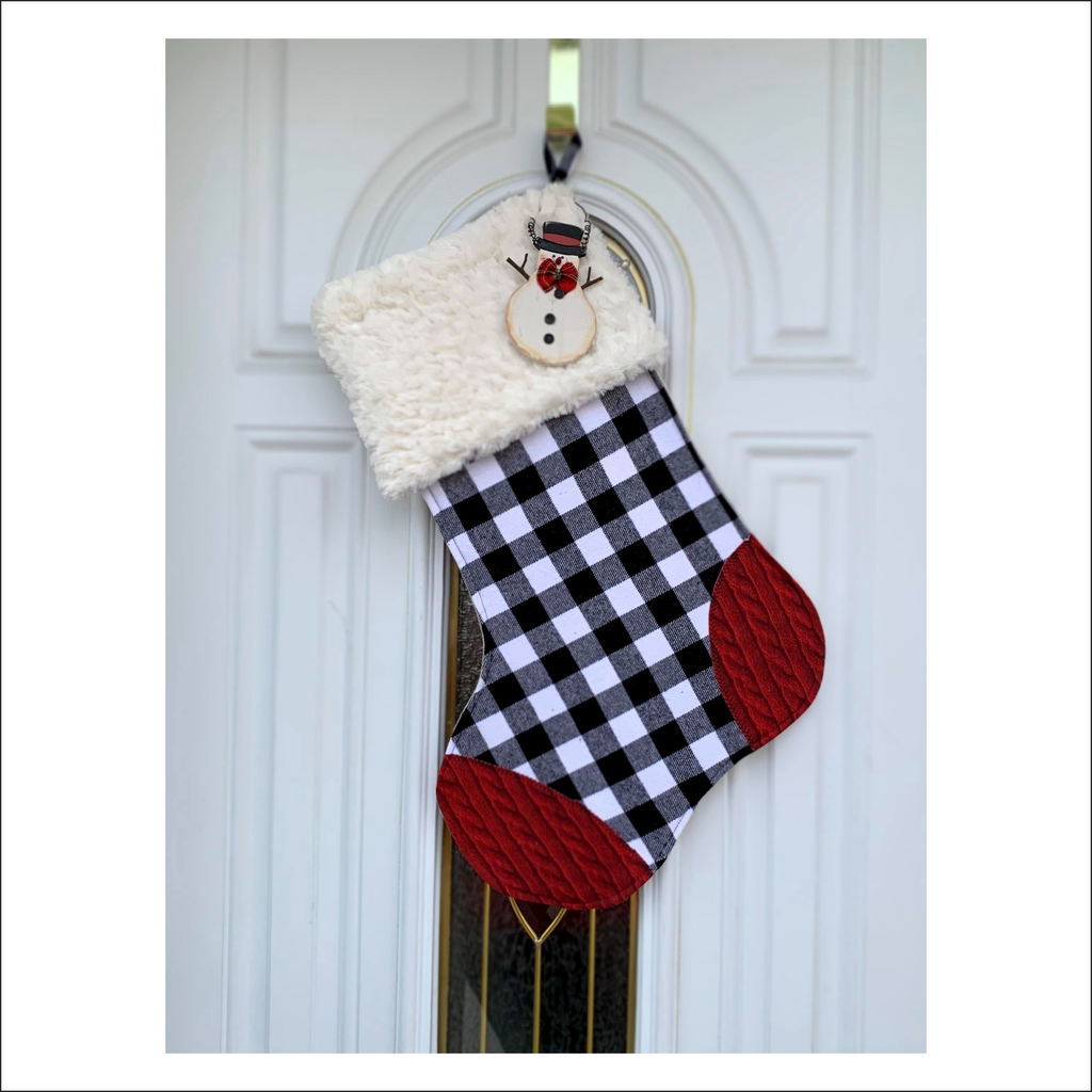 Holly Jolly Stocking | Pattern Pieces
