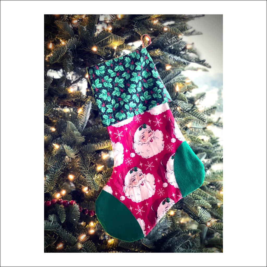 Holly Jolly Stocking | Free Pattern Pieces | Beginner Level Sewing Pattern