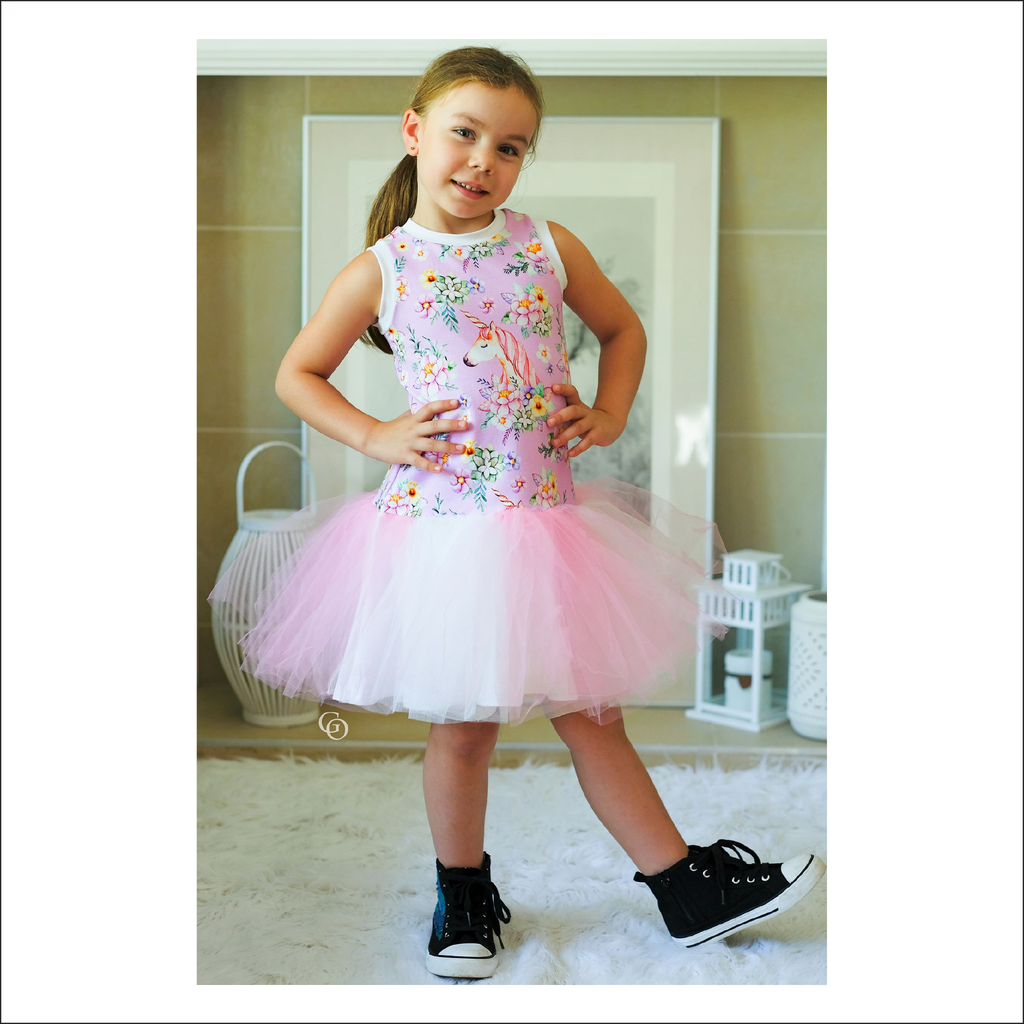Olalla Drop Waist Summer Dress | Baby to Big Kid Sizes 3M - 14 | Beginner Level Sewing Pattern
