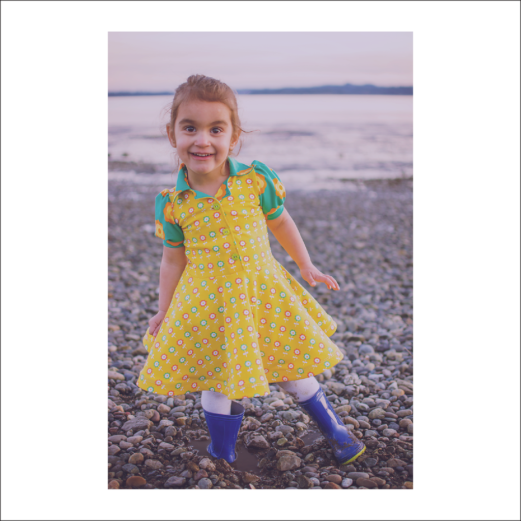 Pacific Ave. Retro Collar Dress | Child Sizes 2T-10