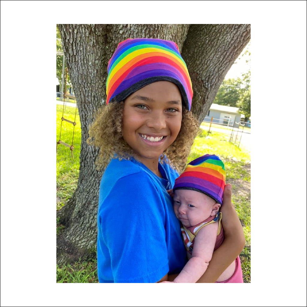 Reversible Beanie | Premie to Big Kid to Adult Sizes NB - 12+