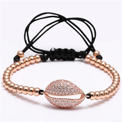 Braided Bracelet shell Zircons jewelry for Women/Men