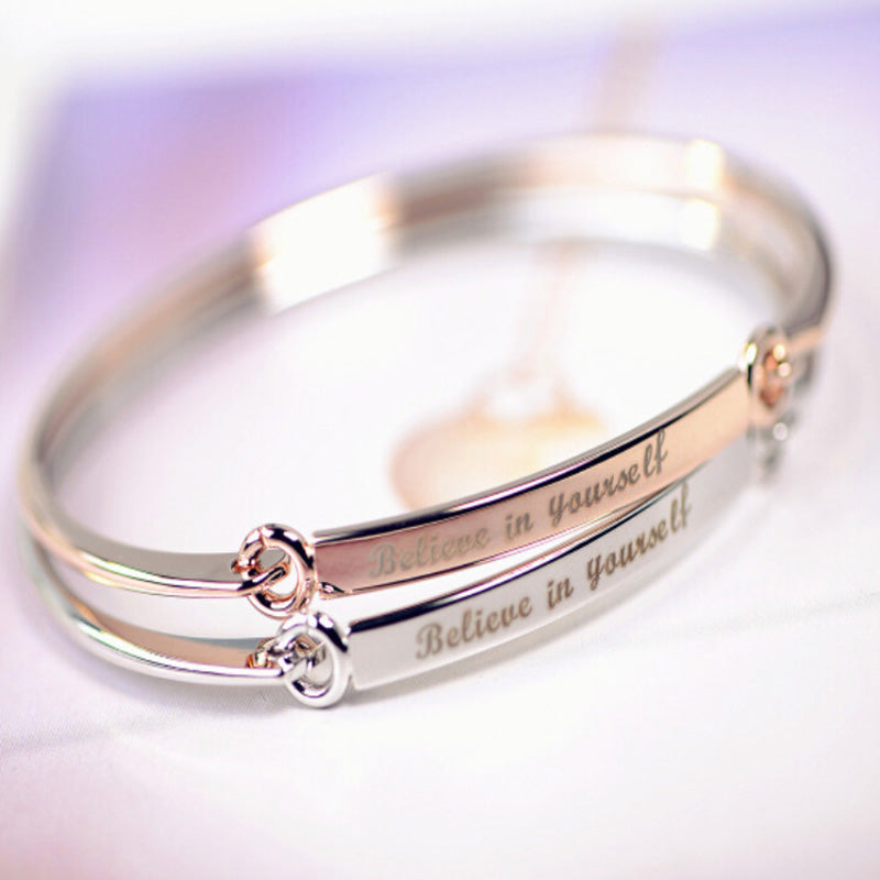 Believe In Yourself love cuff open bracelets
